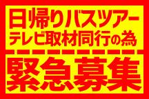 TV取材同行の為緊急募集!