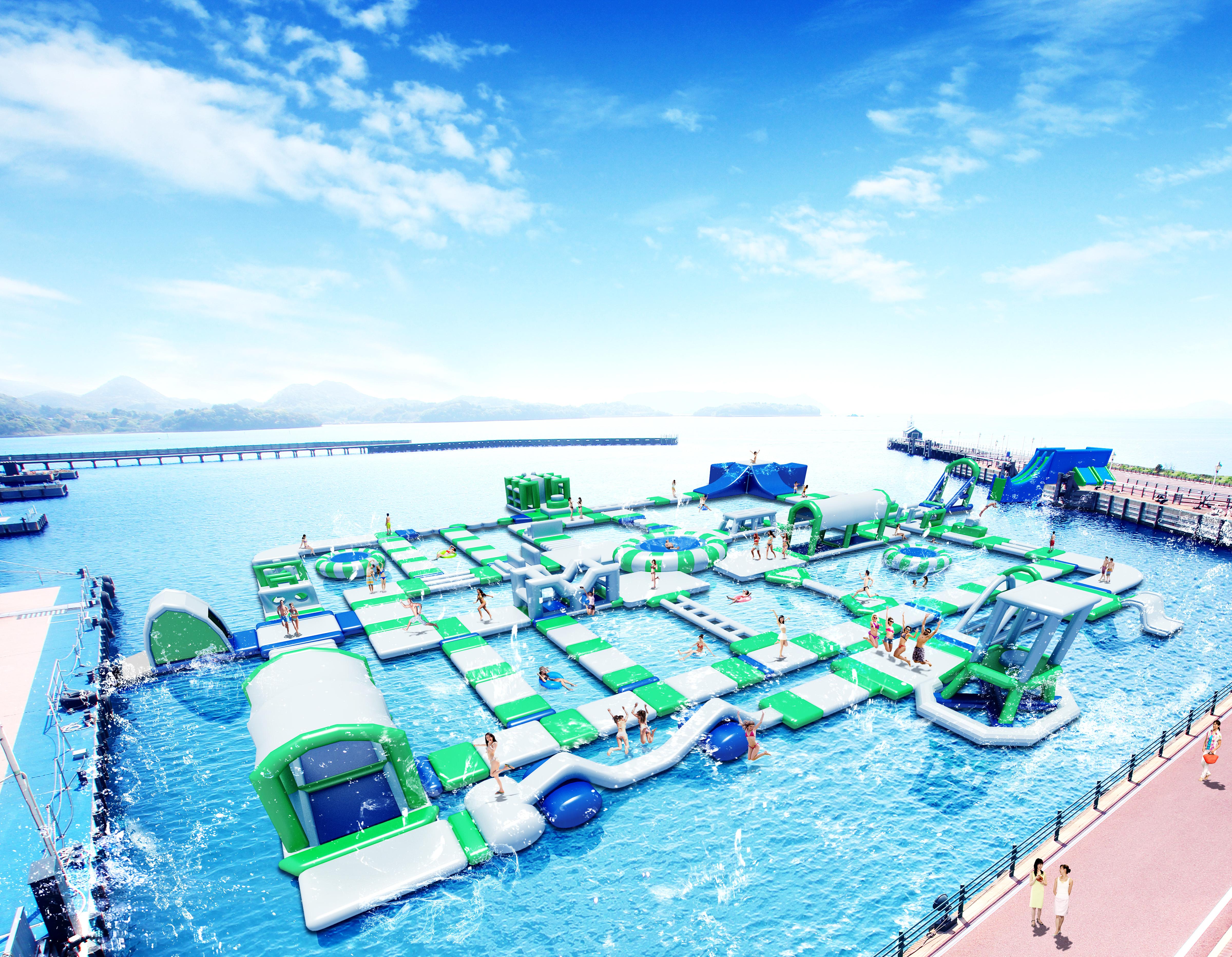 ●【7月平日出発限定】平日出発でさらにお得になりました♪日本最大級の海上ウォーターパーク!夏を涼しく楽しもう!<博多又は天神発>往復バスで行くハウステンボス日帰りプラン
