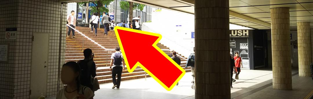 横浜駅東口 駅前広場(地上)道順2