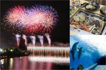 《12/23・24 2日間限定設定!》横浜・八景島シーパラダイス『クリスマス花火シンフォニア』と海鮮浜焼き食べ放題&アウトレットでクリスマスショッピング♪