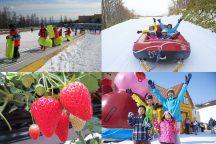 【栃木】この時期だけ!家族で雪遊び!キッズパーク&スノーラフィティングで遊びつくせ!いちご狩り食べ放題♪