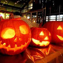 かぼちゃのランタン作り体験
