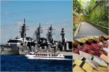 迫力満点!「YOKOSUKA軍港めぐりクルーズ」とインスタ映えする神秘の無人島『猿島』探検&三崎マグロ・うに・イクラ含む寿司10種食べ放題!