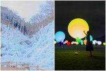 感動体験!話題の新スポット「メッツァビレッジ」で湖畔の森を照らす光のアート『チームラボ森と湖の光の祭』&冬が造る氷の芸術『あしがくぼの氷柱』と冬の名物「長瀞こたつ舟」