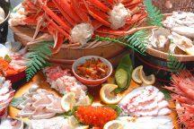 蟹の満腹紀行!かに・甘えび・8種類の海鮮のっけ丼食べ放題!お金の縁、商売繁昌のご利益がある「宇倍神社」参拝♪