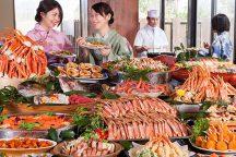 出来立て!熱々!9種のカニ料理をはじめ合計約30種類食べ放題!久美浜温泉☆みなと悠悠で食す「かにカニビュッフェ」&温泉入浴付