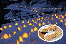 <昼食付>日本夜景遺産「湯西川温泉かまくら祭」の銀世界へ!今が旬のいちご狩り食べ放題&ご当地グルメ宇都宮餃子の食べ歩き♪