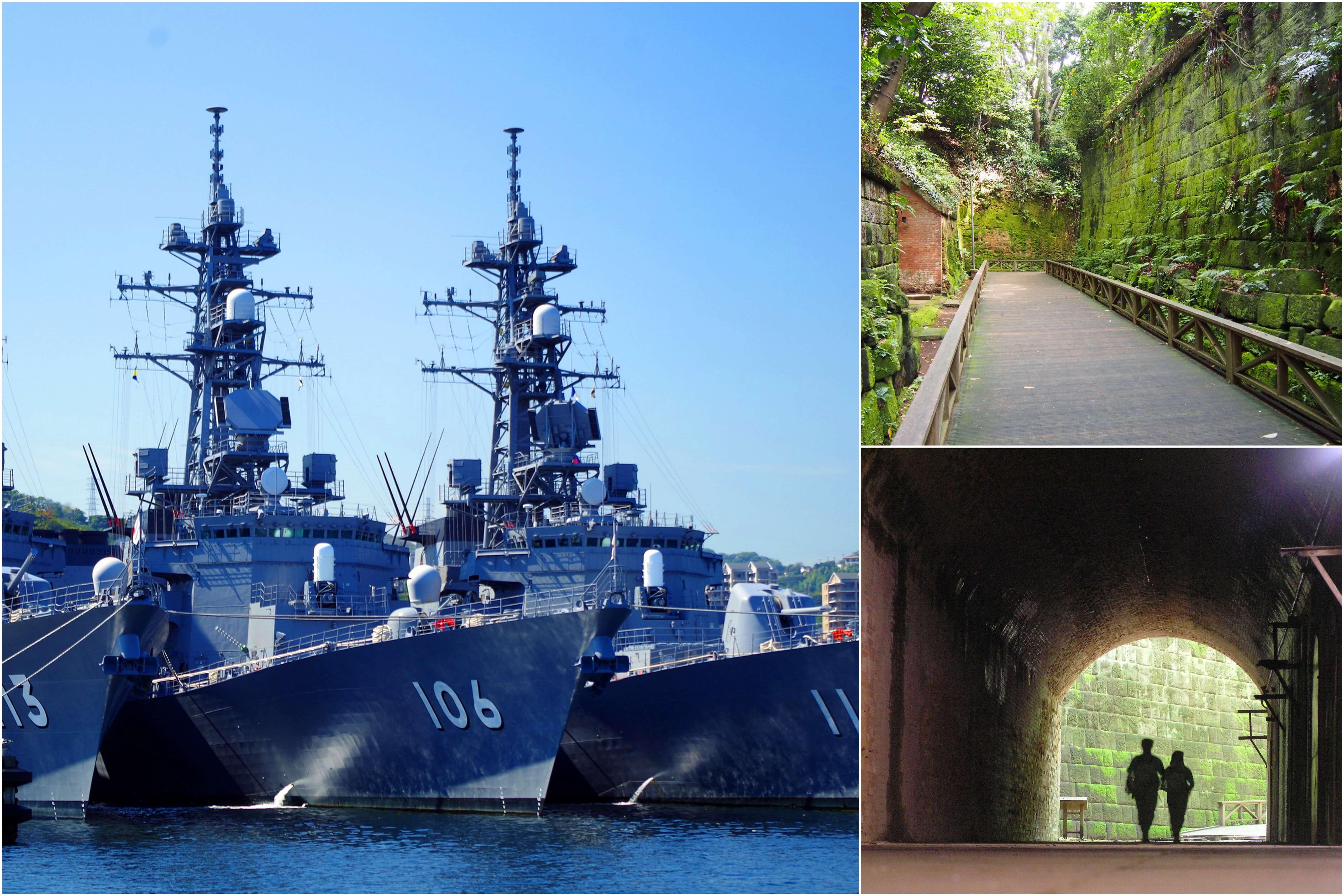 迫力満点!「YOKOSUKA軍港めぐりクルーズ」とインスタ映えする神秘の無人島『猿島』探検<三崎マグロ尽くし海鮮丼の昼食付>