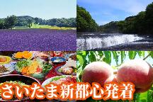 <さいたま新都心発>夏の涼を求めて♪5万株のたんばらラベンダーパーク&吹割の滝散策ともも・野菜狩り体験!