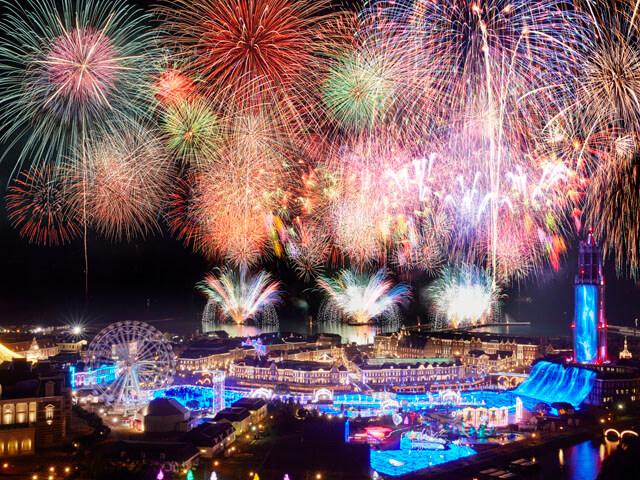 【博多発着】2021年9月18日開催!ハウステンボス九州一花火大会!西日本最大級の22,000発!≪特別観覧席Cブロックイス席≫