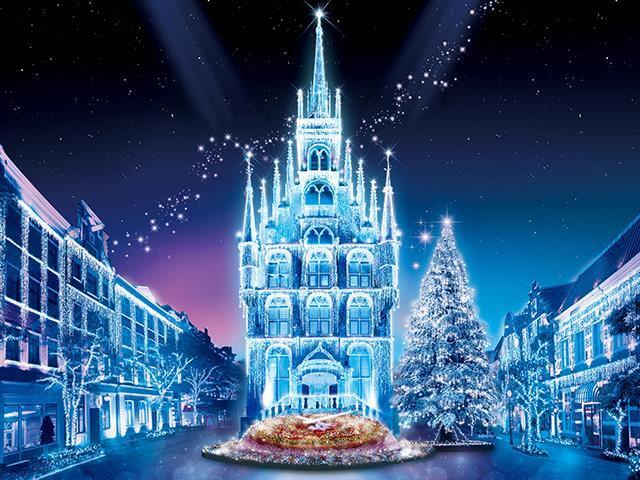 【Go To トラベル対象商品】【博多発】日帰りバス旅!日本一広いテーマパーク!ハウステンボス「光の王国」への旅!