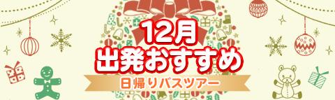 12月出発おすすめ!日帰りバスツアー!!