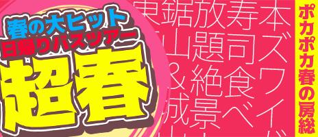 大ヒット春のたっぷり満喫房総の日帰りバスツアー!!