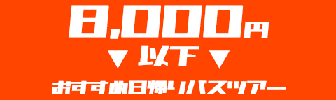 【8,000円以下】でいく!おすすめ日帰りバスツアー特集!